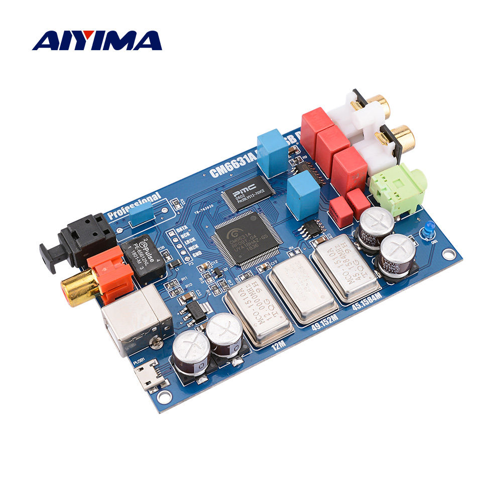 AIYIMA CM6631A Digital Interface  32/24Bit 192K Sound Card DAC USB To I2S/SPDIF Coaxial Output ES9023 Independent Decoding