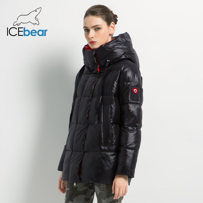 Новинка 2019, зимняя женская куртка, высокое качество, пальто с капюшоном, женские модные куртки, зимняя теплая Женская одежда, повседневные парки - 3