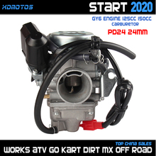 GY6 Carb 24Mm PD24J Carburateur Voor 4 Takt GY6 125cc 150cc 152 157 Qmi Qmj Motor Motorfiets Atv Quad go Kart Bromfiets Scooter