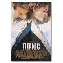 Titanic clássico filme poster bar cafe arte da parede cartazes retro casa decoração do quarto pano de seda pintura 20x30