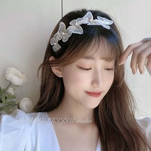 1 Pc Butterfly Hairband Women Fashion Hair Accessories Vintage Hair Band Hair Decorating Accessories Chic Gift chic beaded hairband for women