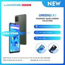 UMIDIGI A7 Android 10 6.49 ''duży pełny ekran 4GB 64GB Quad Camera octa-core procesor 4G wersja globalna Smartphone
