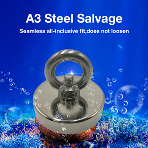 Strong Powerful Neodymium Magnet Round Hook Salvage Magnet Sea Fishing Equipment Holder Pulling Mounting Pot with ring