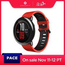 Руссий Amazfit Pace Smartwatch 스마트 시계 블루투스 음악 GPS 정보 안드로이드 폰용 푸시 심박수 redmi 7 IOS