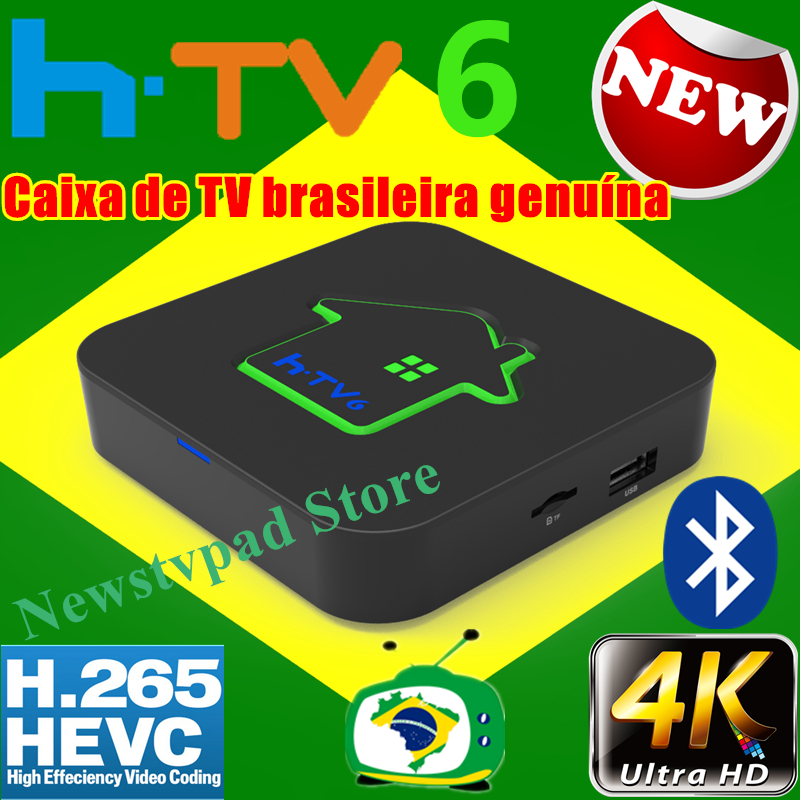 [Véritable] HTV box tv box HTV6 HTV BOX 5 iptv htv box 6 brasil portugais TV Internet Streaming box Live HD Filmes sur demande TV