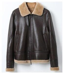 Image 4 - AYUNSUE Leather Jacket Natural Wool Fur Coat Winter Jacket Women Genuine Sheepskin Coat Female Streetwear Bomber Jackets MY4592