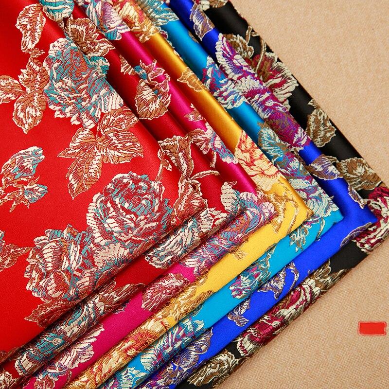 Chinesischen satin stoff brokat jacquard seide stoffe DIY material für nähen cheongsam und kimono
