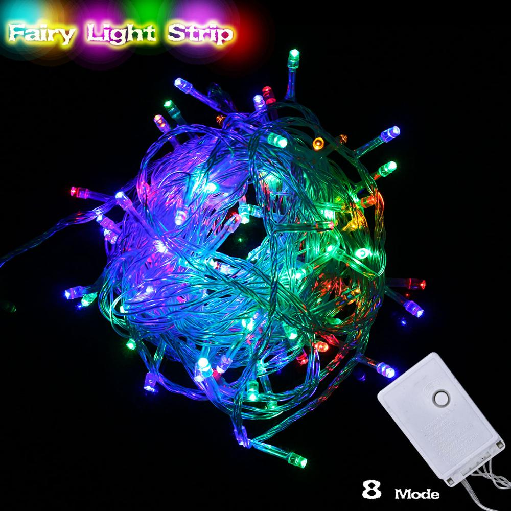 10m 20m 50m RGB LED Christmas String Lights Fairy Home Indoor Outdoor Luces Decoracion 10 LEDs/m Diode Garland New Year Wedding