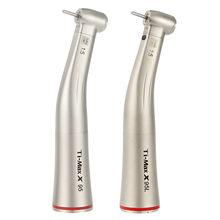 Ti-Max X95L Style Dental 1:5 Increasing Fiber Optic Contra Angle Low Speed Handpiece Red Ring Air Turbine