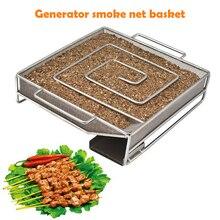 Дымогенератор для холдного копчения, Генератор холодного дыма для мяса, принадлежности для барбекю, коптильня для копчения рыбы и мяса, коптильня, лосось, бекон, рыба, Мини яблоко, деревянный чип, курительная коробка