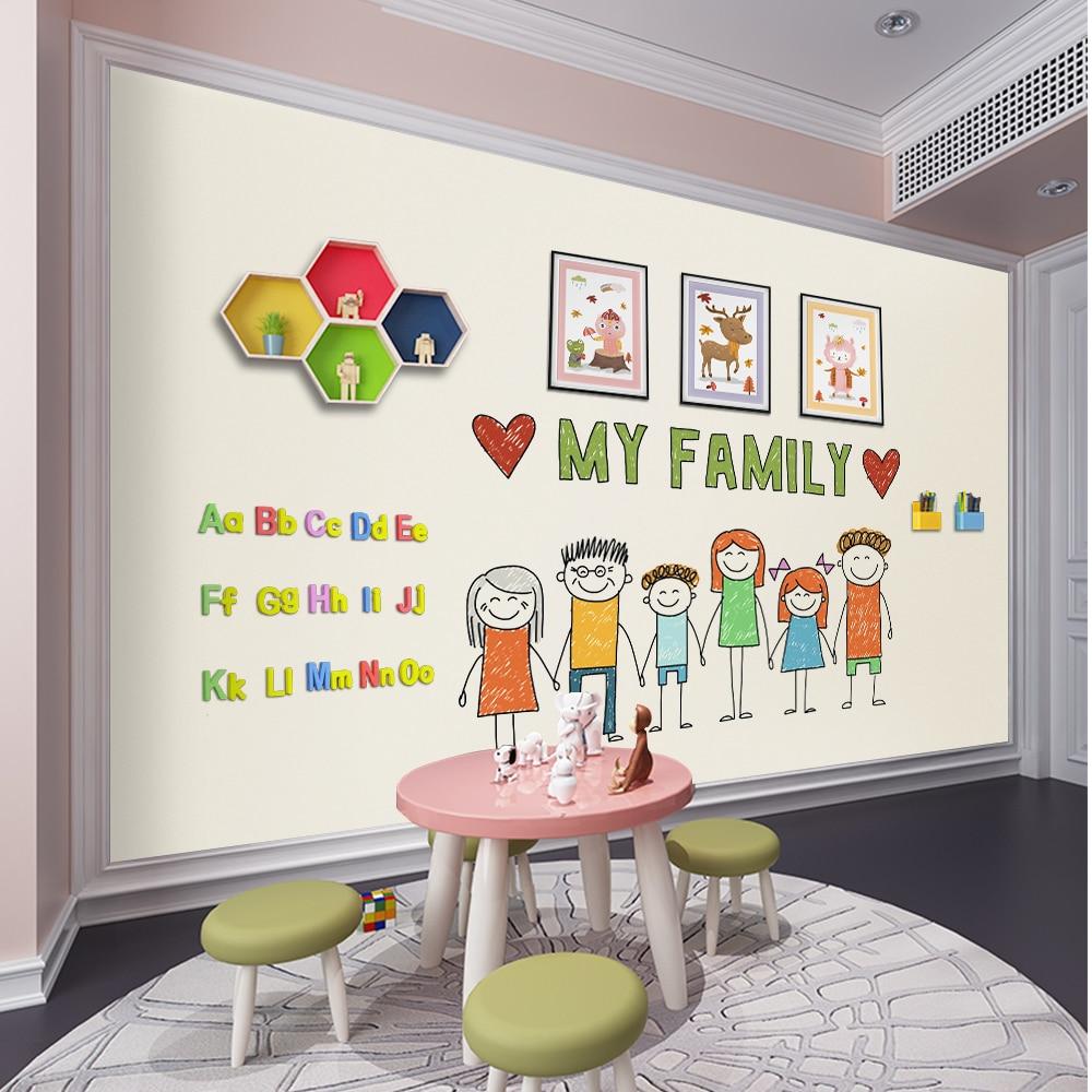 Hold Magnets Blackboard Wallpaper Home Office Restaurant Chalkboard Wall Decal Sticker Paper For Kids Child Graffiti Learning