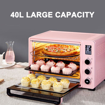 40L Household Electric Oven Automatic Cake Baking Pizza Makers Oven Electric Appliances for Kitchen Bread Toaster Machine