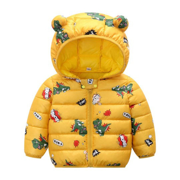 LZH 2020 Autumn Winter Newborn Baby Clothes For Baby Boys Jacket Baby Dinosaur Print Outerwear Coat For Infant Baby Girls Jacket 17