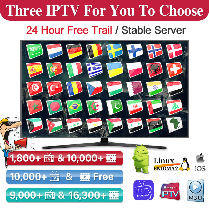IPTV Arabic Italy German Spain IPTV Sweden Dutch <font><b>Belgium</b></font> Netherlands Portugal Greek QHDTV New Datoo OTT Plus IPTV NO APP Include image