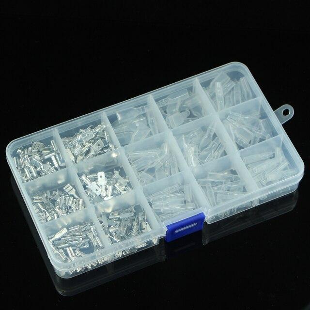 120/180/200/320 sztuk zestaw z pudełkiem złącze przewodu zaciski elektryczne 2.8/4.8/6.3mm Spade automatyczne złącza zestaw bloki ardunio
