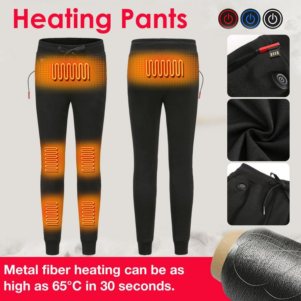 Calças de aquecimento lavável confortável elétrico usb