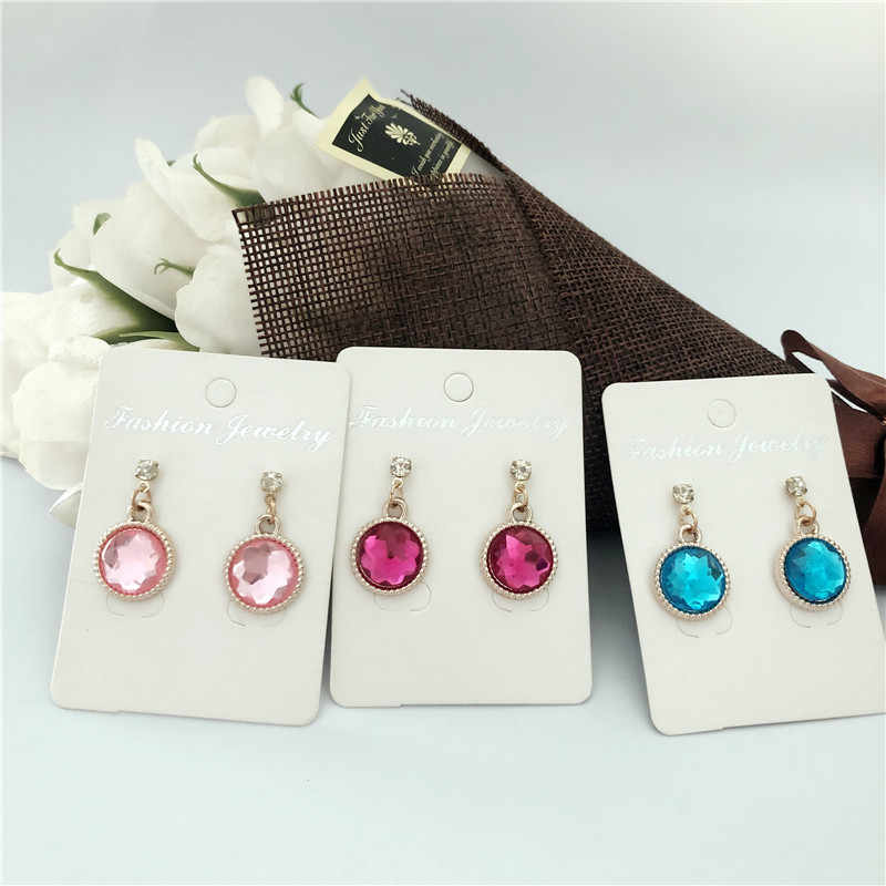 New Hot Selling Simple 10 Colors Round Small Fresh Girl Earrings Fashion Personality High Quality Vintage Earrings