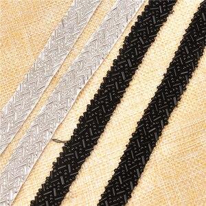 Image 4 - 5 หลา/lot Rhinestones ลูกไม้ผ้าริบบิ้นตัด 1.5 ซม.ถัก Applique Scrapbooking Craft อุปกรณ์เย็บผ้าสำหรับงานแต่งงานชุด