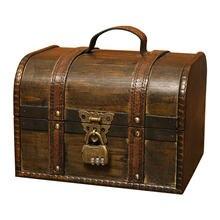 Маленькая деревянная коробка в европейском ретро стиле креативный