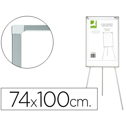 SLATE WHITE Q-CONNECT WITH TRIPODE DIMMABLE 90X70X195CM AND ARMS EXTENDABLE FOR LECTURES LACQUER SURFACE