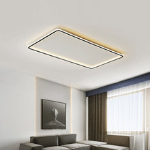Modern Ultra-thin Led Ceiling Lamp For Living Room With Remote APP Dimmable Surface Square Bedroom Study Black Lights Fixture