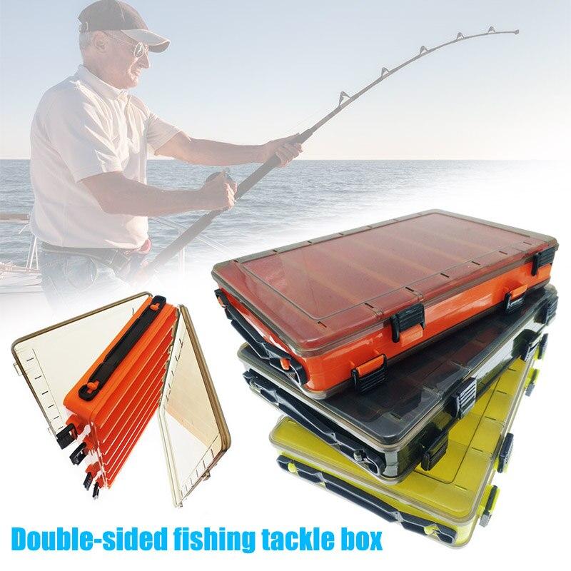 mostrar título original Detalles acerca de  /Aparejos de Pesca Señuelo Cebos Moscas anzuelo organizar Caja doble de los lados