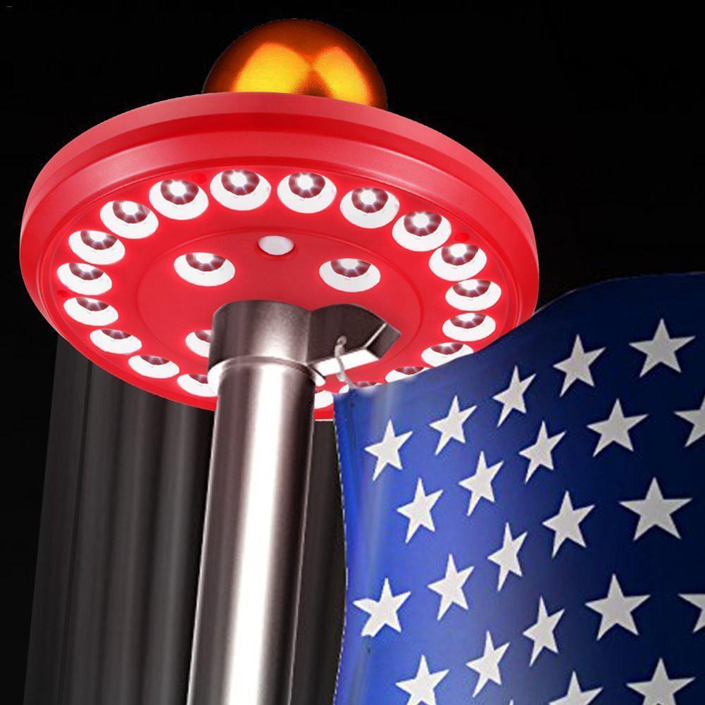 luz de mastro 24 led bandeira mastro luz para muro do jardim luz solar solar ao