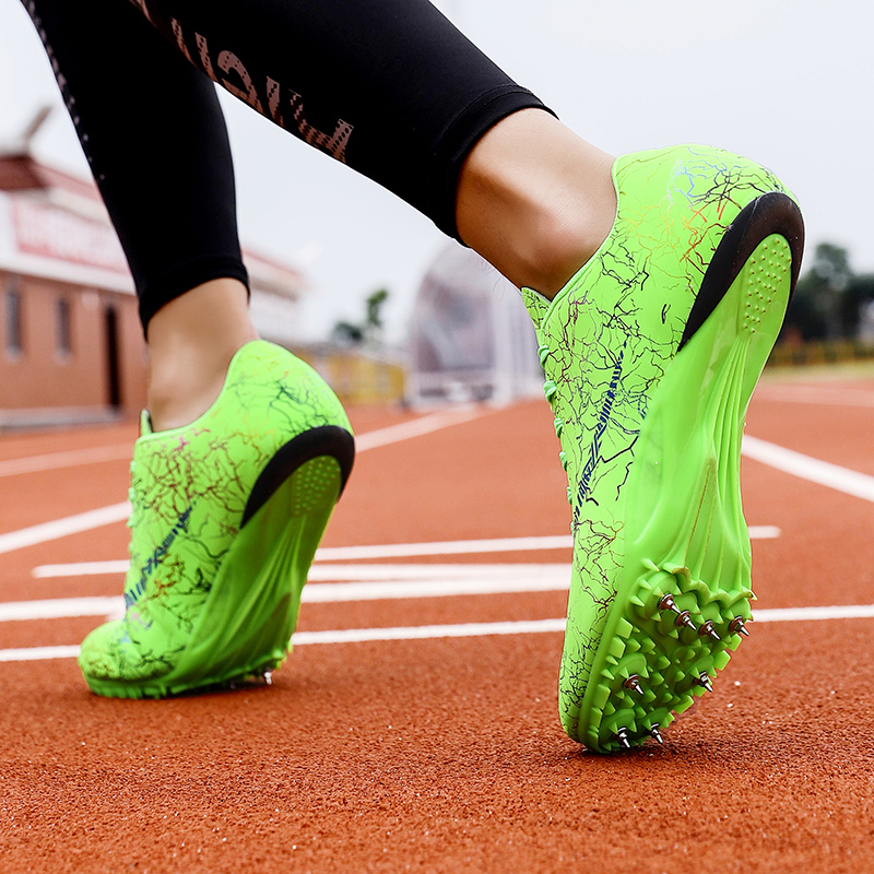 Track Spikes Shoes Men Women Sneakers Trainers Athletics Track And Field Running Shoes Racing Distance Sprint Shoes With Spikes