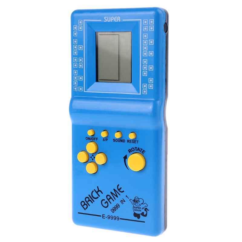LCD Permainan Elektronik Vintage Klasik Tetris Bata Handheld Arcade Saku Mainan