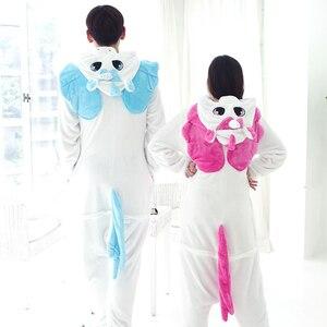 Image 3 - Women Animal Kigurumi Unicorn Pajamas Sets Flannel Stitch Pajamas onesies for adults Winter Nightie Pyjamas Sleepwear Homewear