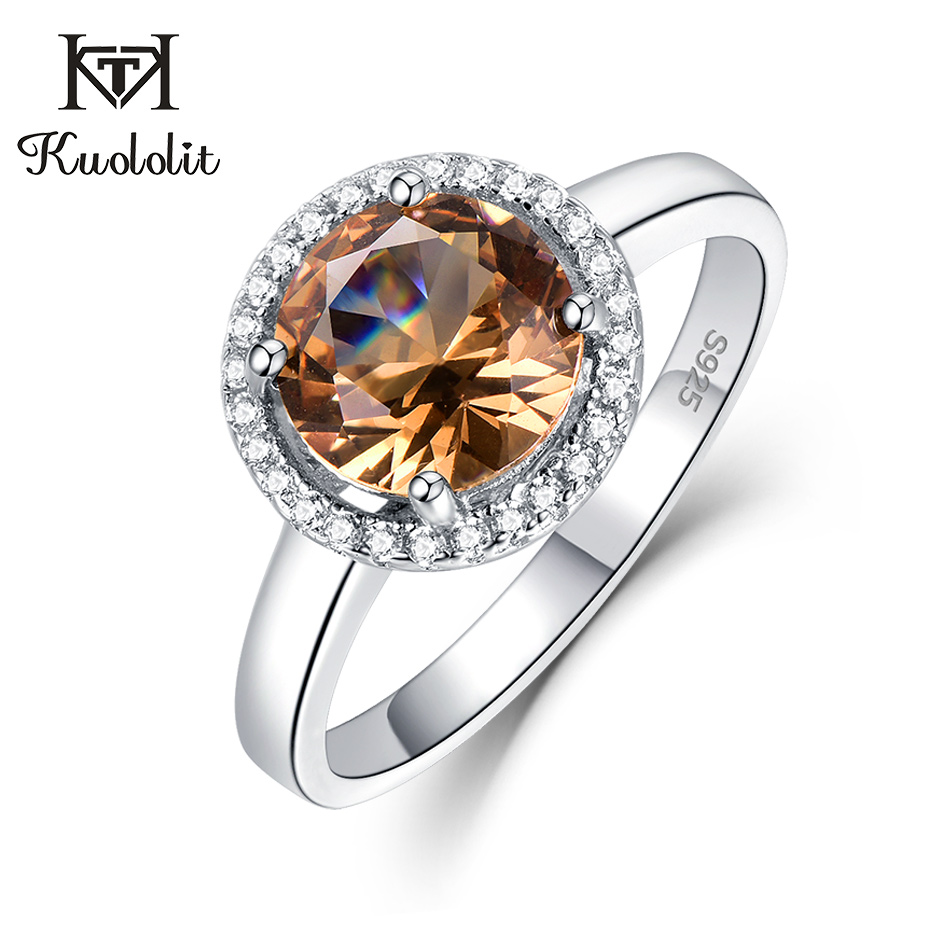 Kuololit Zultanite Gemstone Ring For Women Solid 925 Sterling Silver Color Change Diaspore Special Stone Ring Gifts Fine Jewelry