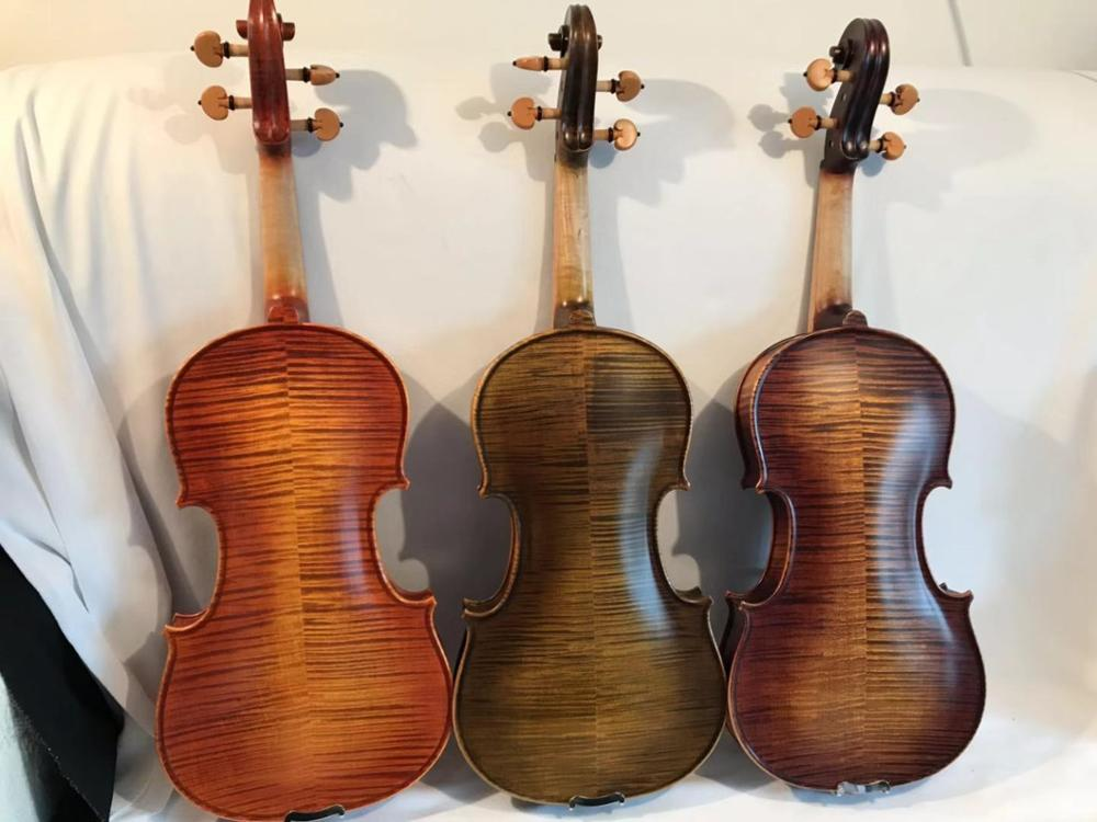 hand made Song Brand solo professional violin, Great sound flames maple wood back nice spurce top image