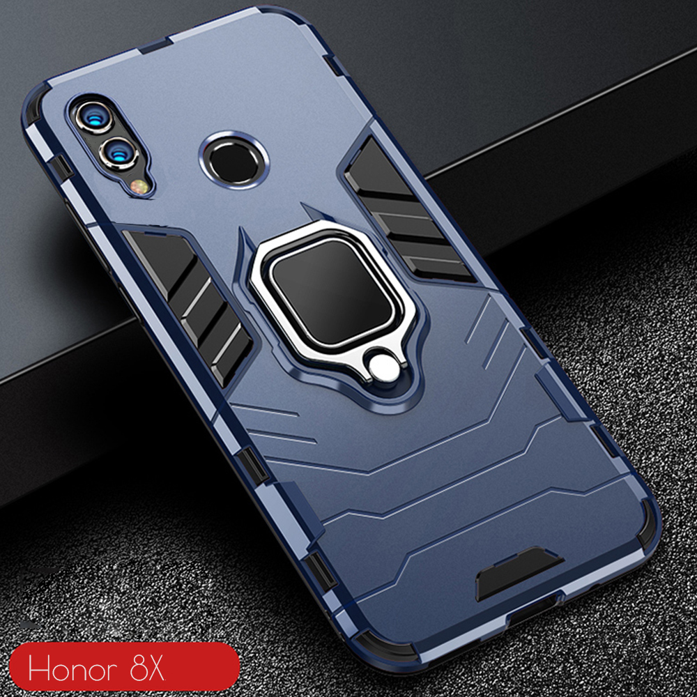 For <font><b>Honor</b></font> <font><b>8X</b></font> 8 X <font><b>Case</b></font> Armor PC Cover Finger Ring Holder Phone <font><b>Case</b></font> For Huawei <font><b>Honor</b></font> <font><b>8X</b></font> <font><b>Max</b></font> Cover Durable Shockproof Bumper Shell image