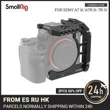 """SmallRig חצי כלוב עבור Sony A7 III A7R III A7R IV Dslr מצלמה כלוב עם נאט""""ו רכבת/קר נעל וידאו ירי כלוב ערכת 2629"""