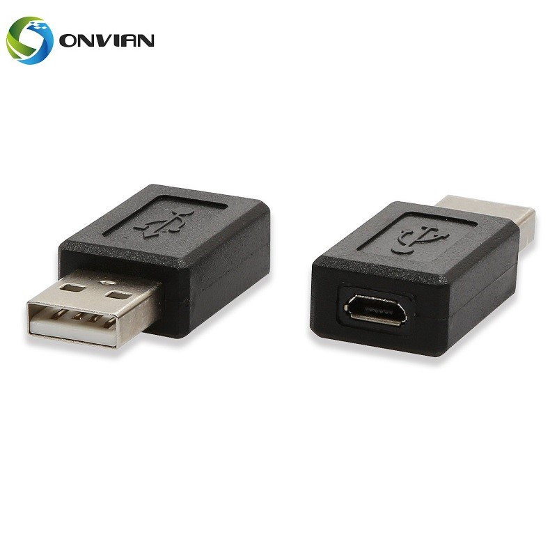Onvian 2PCS USB 2.0 A Male To USB Micro Female Adapter Converter High Speed USB Adapter Connector