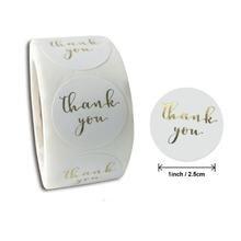 5000 шт за лот белый уплотнение Стикеры бронзового цвета спасибо