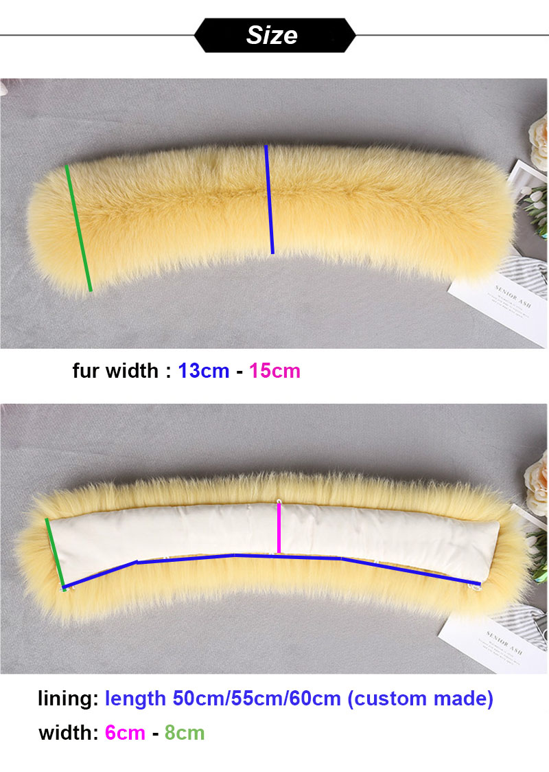 fox fur collar size副本