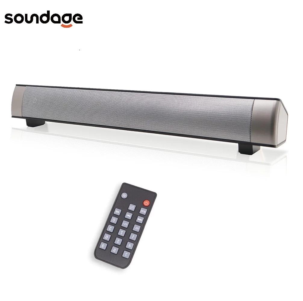 Soundage-altavoz inalámbrico para cine en casa, barra de sonido estéreo portátil con tarjeta TF para teléfono/PC 1