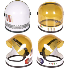 Space Helmet Visor Astronaut-Hat Birthday-Party Toy Costume-Accessory Plastic for Fun