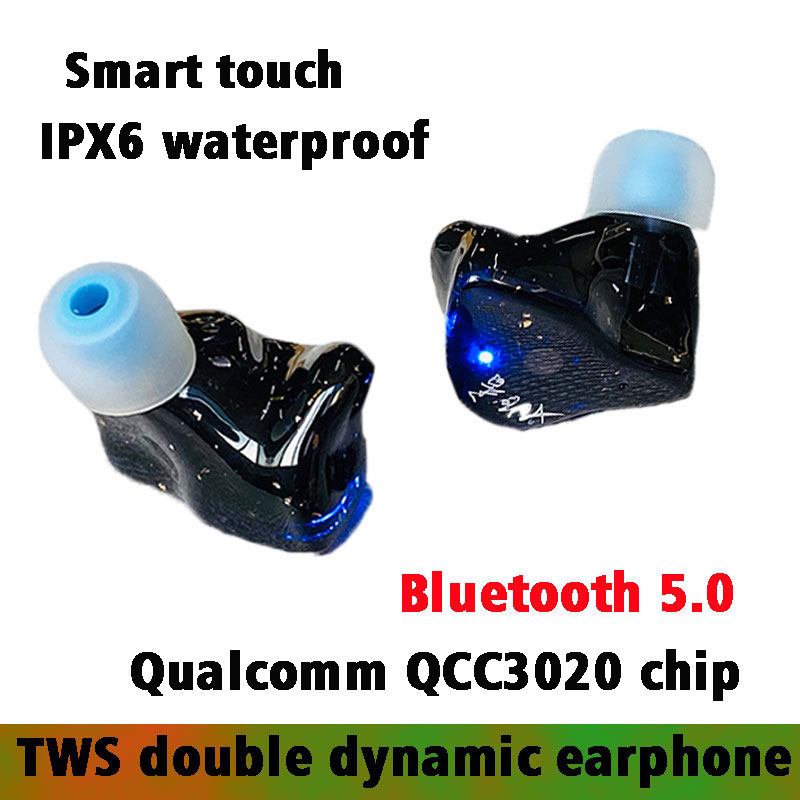 2BA Balanced Armature TWS Earphone Earbuds Touch-Control Beat Bluetooth 5.0 Earpiece Aptx Wireless Headset Qualcomm QCC3020 chip image