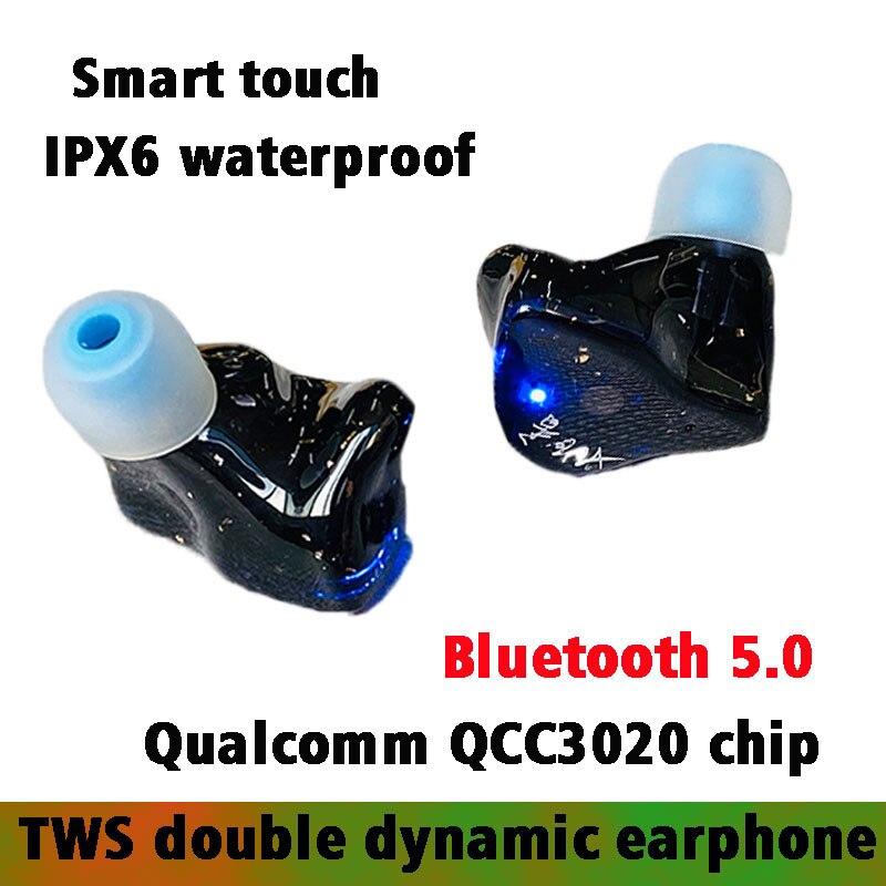 Fone de Ouvido Fone de Ouvido sem Fio Armadura Equilibrada Fones Toque-controle Batida Bluetooth 5.0 Aptx sem Fio Qualcomm Qcc3020 Chip 2ba Tws