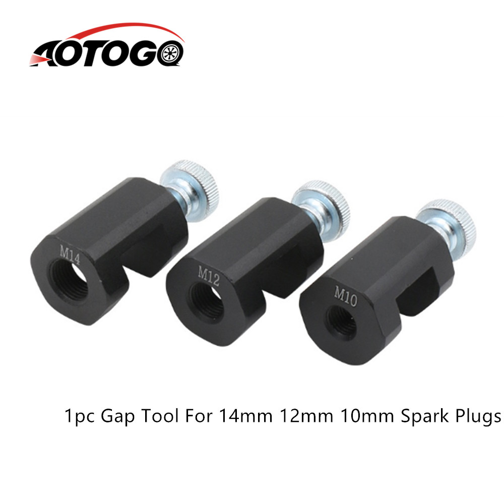 12mm Billet Aluminum Precision Car Spark Plug Gap Tool Sparkplug Caliper Gapper Gapping Universal Spark Plug Caliper