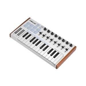 Image 4 - WORLDE TUNA 25 Key midi keyboard midi controller Mini Ultra PortableUSB Controller 8 RGB Backlit Trigger Pads controlador midi