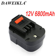 6800ma 12V Rechargeable Tool Battery forBlack&Decker A12 A12EX FSB12 FS120B A1712 HP12K HP12 Ni-MH Replacement Drill Battery Sp(China)