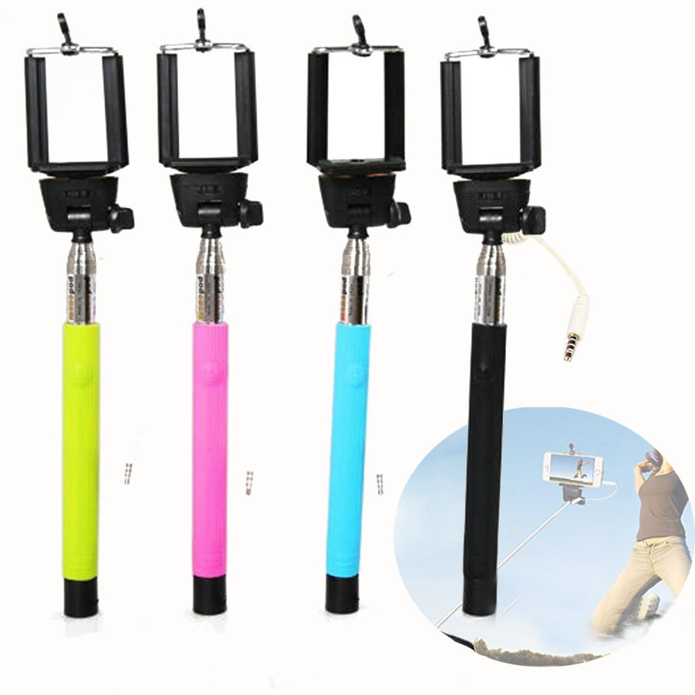 Gosear Wired Camera Palo Selfie Stick Pole Handheld Monopod for iPhone <font><b>7</b></font> 6 6S Plus Samsung Galaxy S8 S7 S6 Xiaomi Mi 5 Huawei image