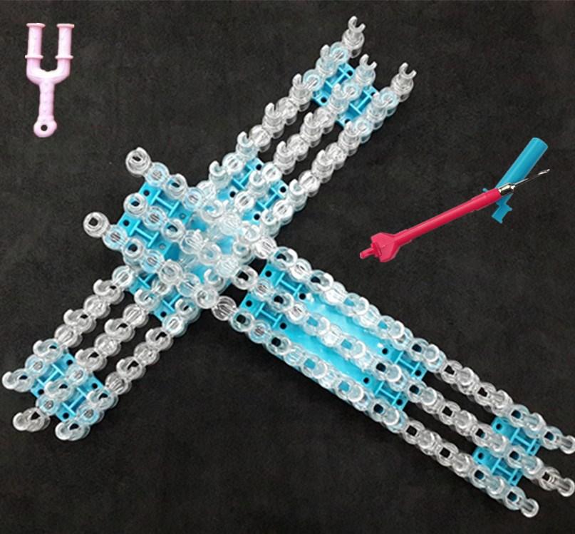 Fashion Rubber Band Loom Weaver Kit for DIY Elongated Knitting Machine Bracelets Weaving Frame Bands Hook Arts Crafts  DIY Toys