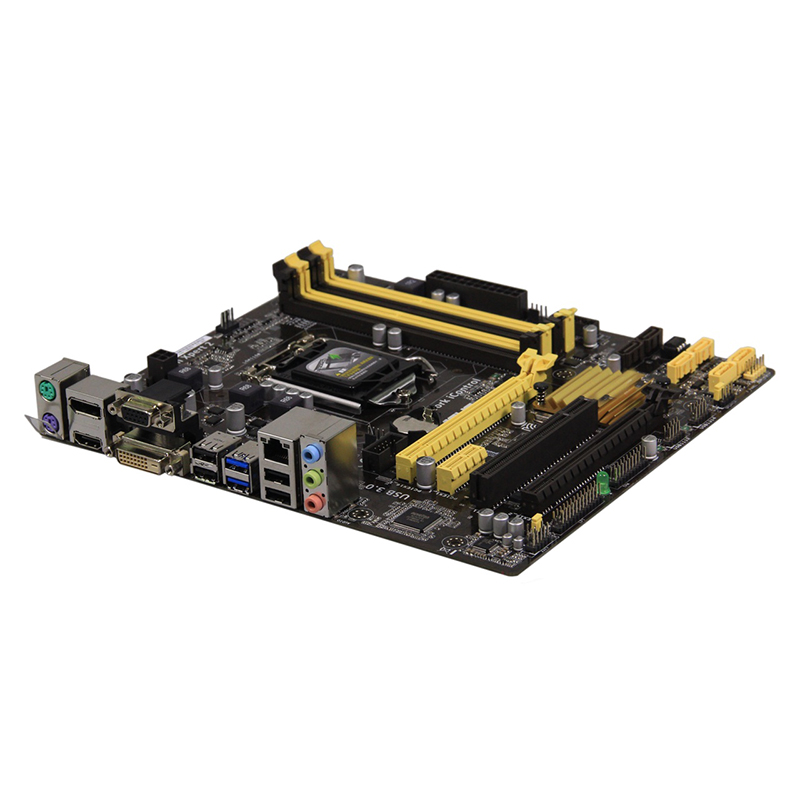 For ASUS B85M-E Desktop motherboard MB Intel B85 LGA 1150 micro ATX DDR3 32GB SATA3.0 USB3.0 100% fully Tested Free shipping 1
