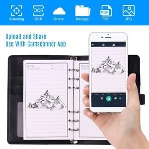 Image 5 - Silinebilir yeniden kullanılabilir akıllı dizüstü ciltli yazma dergisi gevşek yaprak deri not defteri ıslak sıcak silme A6 boyutu 50 sayfalık dizüstü bilgisayar