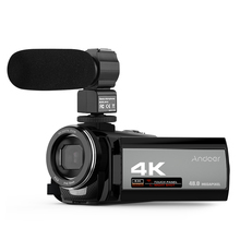 Andoer-videocámara Digital 4K, Ultra HD, 48MP, WiFi, pantalla táctil de 3,0 \