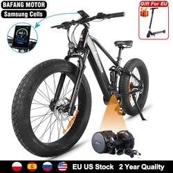 Fat e Bike 750W Bafang Mid Drive Motor Electric Bicycle 14Ah Samsung Battery Bicicleta Electrica Adult Snow Beach ebike 55KM/H
